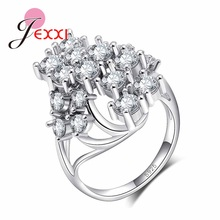 JEXXI New listing Original Design 925 Sterling Silver Ring Fashion Trend Chinese Wind Handmade Shining Rhinestone Ring Jewelry(China)