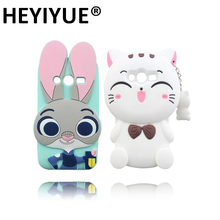 Cute Cartoon Minnie Lovely Cat Judy 3D Case Cover For Samsung Galaxy Ace 4 Lite G313 G313H Ace4 Neo G318H(China)