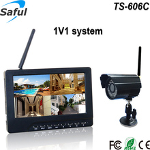 Hot 4CH digital wireless security Surveillance camera system Support up to 32 GB SD card with video recorder function