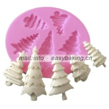 Silicone Cake Decorating Mold Fondant Cupcake Candy Chocolate Soap Christmas Tree Sugarcraft Silicone Mould
