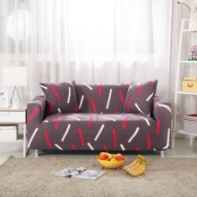 Red And White Stripes Couch Sofa Covers For Living Room Polyester Corner Sofa Covers Loveseat Multi-size Anti-slip Sofa Covers