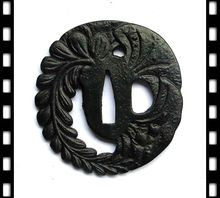 Nice Sword Accessory Iron Tsuba Hand Guard for Japanese Sword Samurai Katana or Wakizashi Fitting