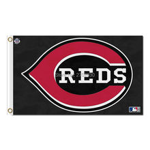 Black Cincinnati Reds Stockings Flag Baseball Super Fans Team Banners Major League Flags Champions 3x5 Ft Banner Red 90x150 Cm(China)
