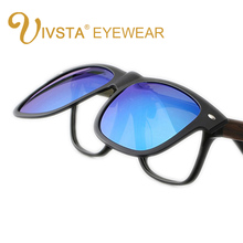 IVSTA JP806 2016 New Cool Lenses Clip On Sunglasses Men Flip Up Clips Driving Sun Glasses Polarized  Women Super Light  myopia