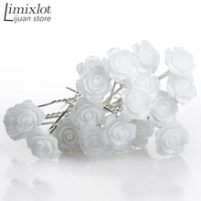 Wholesale 20PCS Wedding Bridal Flower Hairpins Hair Clips Bridesmaid U Pick Tiara Jewelry Headwear Accessories(China)