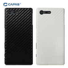 CAPAS Cover for Sony Xperia X Compact F5321 Case 3D Carbon Fiber Hard PC Phone Case for Xperia X Compact Bling Back Cover Shield