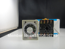 110V Power on delay timer time relay 0-3 minute 3m & Base