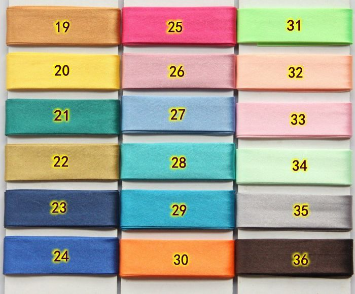 """10 Meters/Lot 25MM(1"""") Width Polyester Satin Ironed Single Fold Bias Binding Tape For Sewing And Craft Making Diy"""