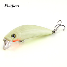 1pcs Fishing Lures 3D Luminous Night Fishing Minnow Lure Isca Artificial Wobbler Bait Hard Bait Lure Hook Tackle Fish Lure(China)