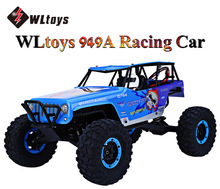 WLtoys 949A RC Truck 2.4G 1:10 Scale Double Speed Remote Control Electric Wild Track Warrior Car Toy Four Wheels Drive Vehicle(China)