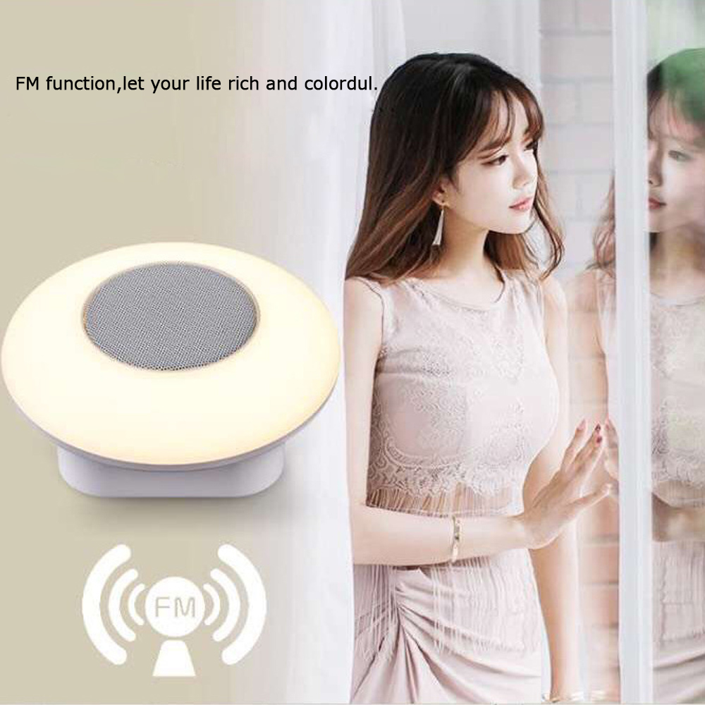 Touch LED Light Hanging Lamp Smart Wireless Bluetooth Speaker Colorful outdoor portable Music Player SD card FM radio hands-free