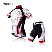 WOSAWE Cycling Sets Maillot Ciclismo Cube Jersey Bike Short Sets Rock Racing 2016 Summer Cycling Clothes Man Breathable Pad suit