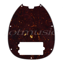 Bass Pickguard for Musicman Music Man MM2 4 String Guitar Parts Replacement Dark Brown
