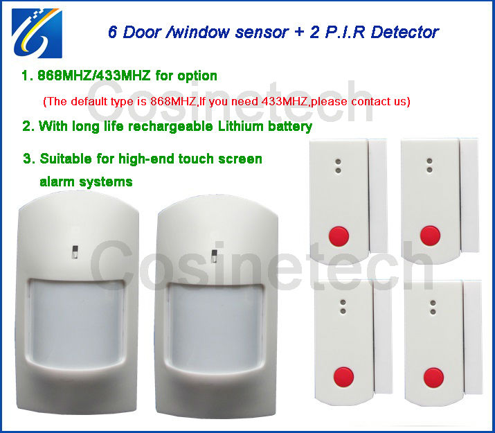 868MHZ door magnet ,PIR detector for 868MHZ alarm system,433MHZ door/window sensor,infrared motion PIR sensor for alarm system<br>