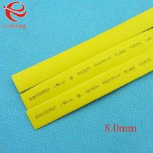 Heat Shrink Tube Yellow Tube Heat-Shrink Tubing Diameter 8mm Thermo Jacket Wire Wrap Insulation Materials Element 1meter /lot