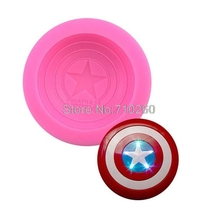 X015 Captain America Shield Star Shaped 3D Silicone Mould Fondant DIY Chocolate cake decorating molds Tools