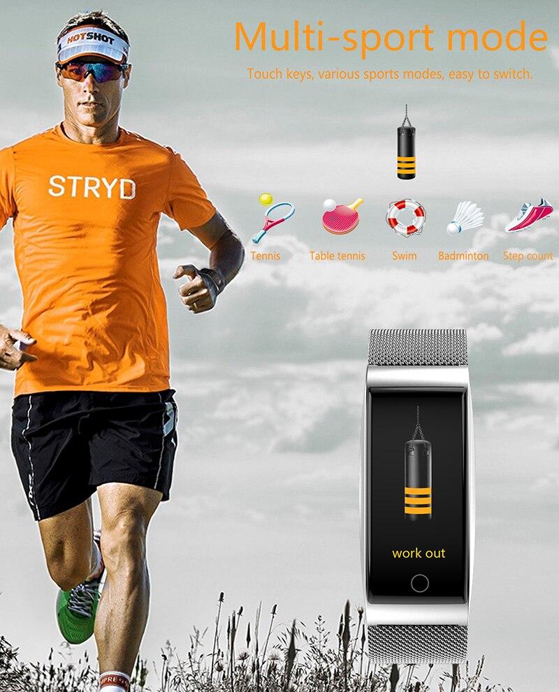 VERYFiTEK F4 Metal Smart Band Wristband Blood Pressure Heart Rate Monitor Men Women Fitness Watch Pedometer Smart Bracelet (12)