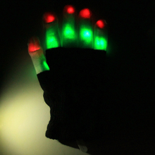 Magic Party Bar Flashing Gloves Glow LED Rave Light Finger Lighting Mitt Toy Finger Led Luminous Gloves Accessory KO876511