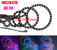 WS2812 5050 RGB LED 1 8 12 16 24 32 Bits Ring Lamp Light with Integrated Driver(China)