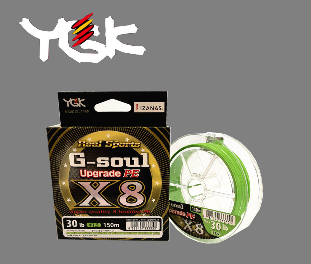 YGK G-Soul X8 Upgrade PE Green 200m Braided line Made in Japan NEW 2019