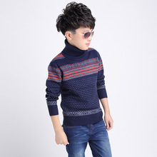 2017 Children's sweater for boys Children's clothing Winter new Keep warm Kids sweater Turtle collar and round collar sweater(China)