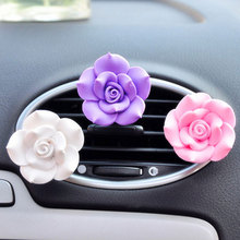 Original Fragrance Air Freshener Cute Exquisite fashion flower roses Styling chichi Solid  Perfume Car decoration Accessories