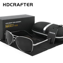 HDCRAFTER Aviator Sunglasses Men Polarized Sun Glasses For Men fashion UV400 driving outdoor sunglasses with box(China)