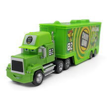 Pixar Cars Movie No.82 Shiny Wax Racer's Truck Metal Diecast Car Truck Container 1:43 Truck Combination Alloy Model kid's toy(China)