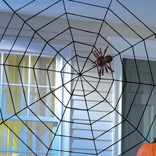 Halloween Giant Spiders Web Cobweb Decor Haunted House Party Decoration Festive Party Supplies 1.5/3/5 M #253271(China)