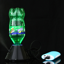 Hot Practical USB Mini Air Mag Humidifier Water Bottle Ultrasonic Oil Diffuser Home Office Aromatherapy Mist Maker Aroma Lamp(China)