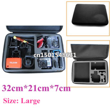 With tracking Large Size GoPro Case 3 TELESIN 4.0 Bag POV Gopro Camera Bag Case For Gopro Hero 3 3+ 2 HD Accessories Black