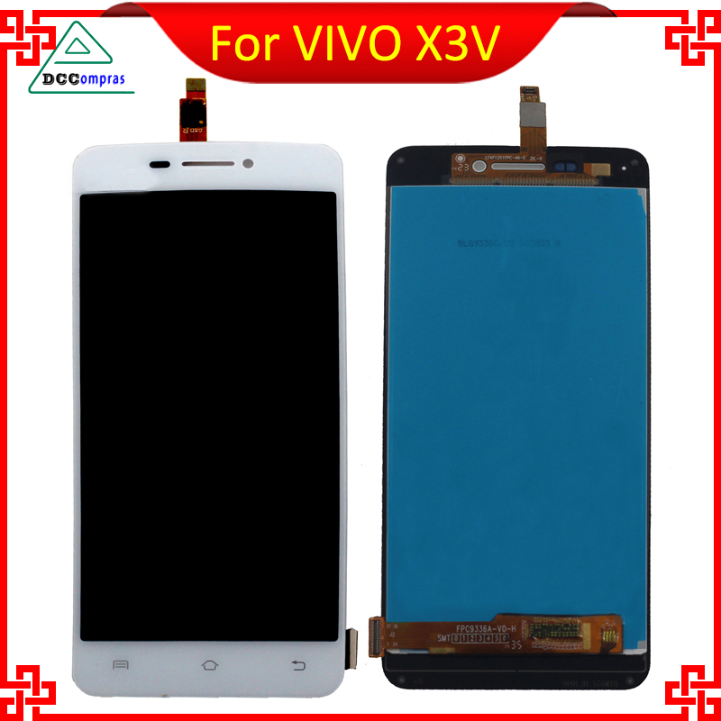 High Quality For VIVO X3V FPC9336A LCD Display With Touch Screen White Black Color Mobile Phone Repair Parts Free Tools<br><br>Aliexpress