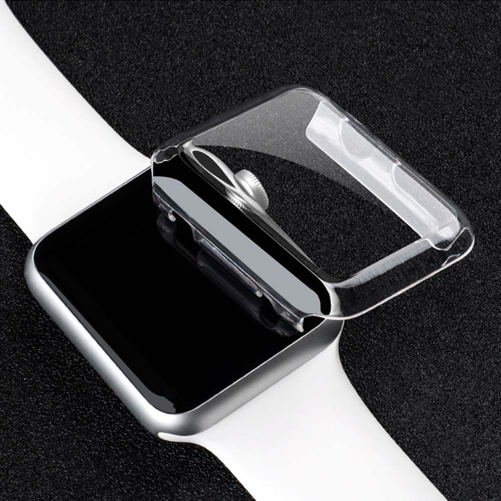 10pcs 38mm/42mm Crystal Ultra Thin Hard PC Plastic Transparent Clear Transparent Case Cover for Apple Watch Series 1 Series 2(China)