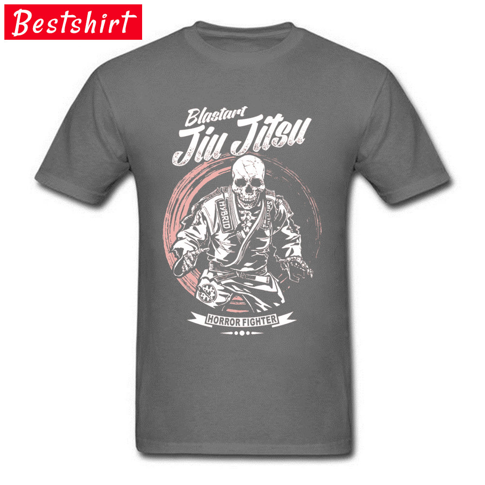 Jiu-jitsu-Horror-Fighter Street Tops Shirt Short Sleeve for Men Cotton Fabric Round Collar T Shirt Normal Sweatshirts 2018 New Jiu-jitsu-Horror-Fighter carbon