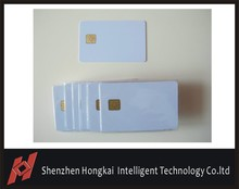 Factory Supplier 500PCS/Lot ISO7816 Contact AT24C16SC Chip Smart IC Blank PVC Card with 16K Memory(China)