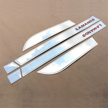 For Volkswagen Lamando Stainless Steel Exterior Car Door Strips Sticker 6pcs/set for VW Lamando refitting paint red mark