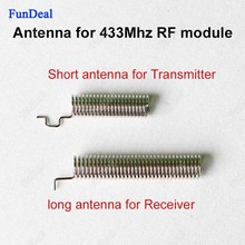 2pcs/set 433 mhz Spring Antenna For RF Receiver and transmitter Module 433MHZ built-in antennas For Wireless Remote Controls DIY