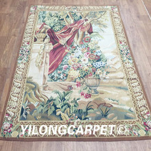 Yilong 4'x6' French aubusson customized tapestry hand woven aubusson tapestry (Au39-4x6)(China)