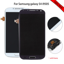 white black blue LCD For Samsung galaxy S4 i9505 LCD Display Touch screen digitizer with Frame full assembly replacement parts