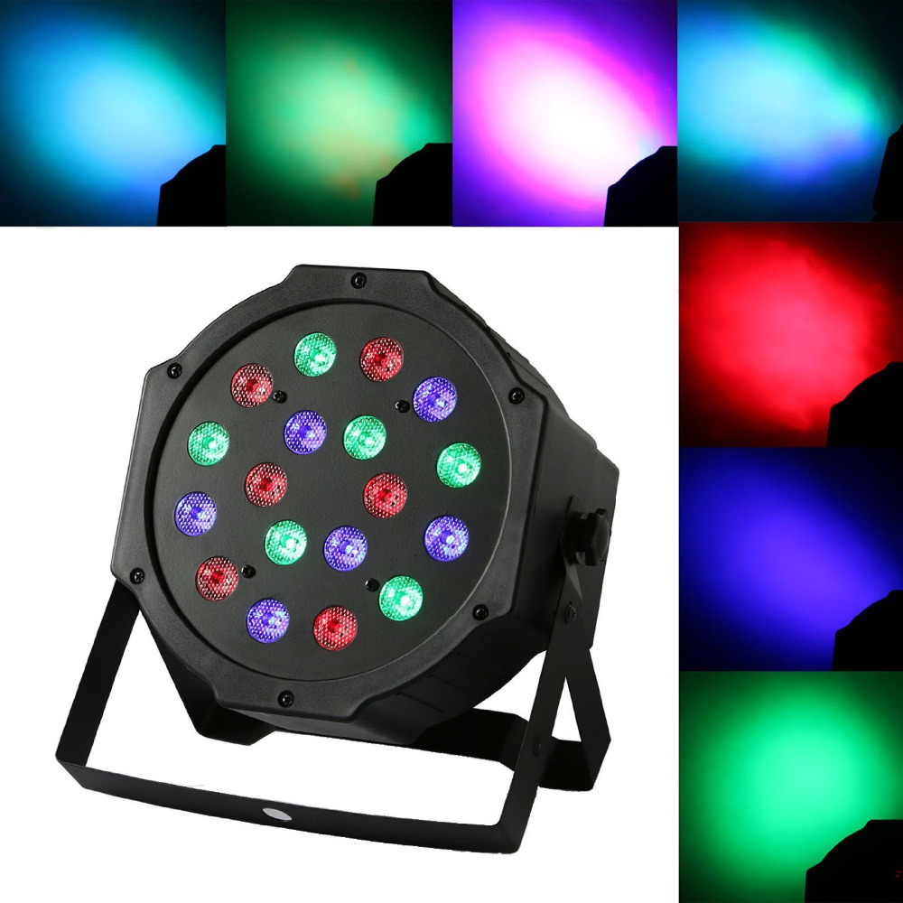 Stage Light LED Par DJ Disco with Music-activated Auto-run and DMX512 Control Mode Different Colors Combinations of RGB Rotating<br>