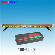 Free shipping!High quality TBD-12L02 White LED mini lightbar,amber emergency police strobe light,Car Roof Flashing warning light