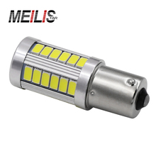 1pcs 1156 BA15S P21W 33 led 5630 5730 smd Car Tail Bulb Brake Lights auto Reverse Lamp Daytime Running Light red white yellow(China)