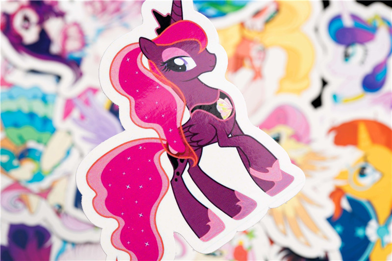 31PCS Cute Cartoon Sticker Set For Children Travel Case Bicycle Fridge Laptop Kid Toy Anime Stickers Little Pony Sticker (11)
