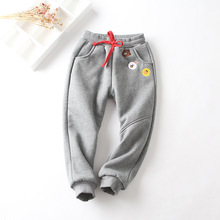 autumn winter Boys girls pants velvet thicking baby warm trousers children's bottoms(China)