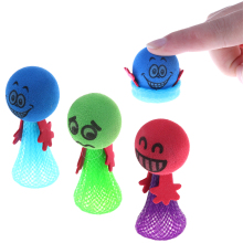 Color Randomly Kids Funny Bounce toy Shock Joke Shocking Gadget Prank Toy Trick For Kids Gifts Practical Jokes(China)