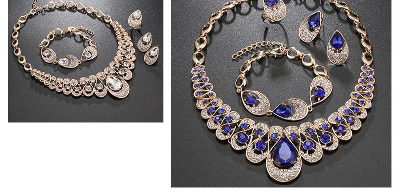 AYAYOO Jewelry Sets Fashion African Costume Jewelry Set Wedding Jewellery Sets For Women Nigerian Beads Necklace Jewelry Set (4)