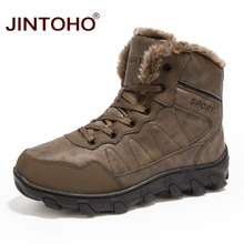 JINTOHO Brand 겨울 퍼 Supper Warm 눈 Boots 대 한 Men 성인 남성 Shoes 비 Slip 고무 캐주얼 일 Safety Mid -Calf Ankle Boots(China)