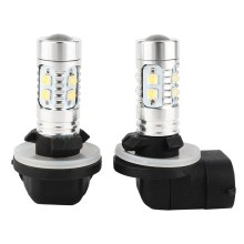 1 Pair Car Fog Lights 881 889 H27 50W Bright 6000K White LED Auto Car Fog Lights DRL Car-Styling Headlight External Lamp New(China)
