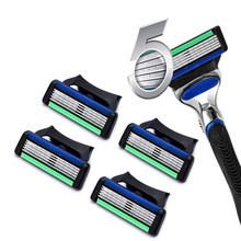 4pcs/lot Razor Blade For Men Face Care Shaving Safety Shaver Blades rasoir Comfortable Replace For Fusion Power 2 Type Select