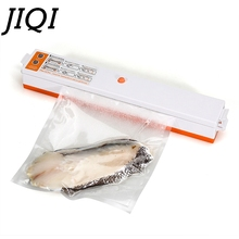 JIQI MINI Vacuum sealer Electric food fresh maintaining sealing machine plastic packaging Film sausage coffee packer with 15Bags(China)